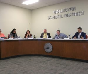 The Hollister School District Board of Trustees was briefed on the status of funding and spending for the new, yet-to-be-named school at Santana Ranch. Photos by John Chadwell.