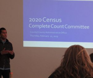 State Assemblyman Robert Rivas speaks about the importance of the census at a Feb. 21 committee meeting. Photo by Noe Magaña.