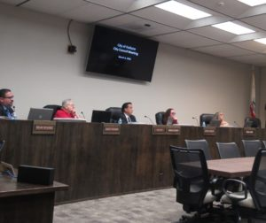 Hollister City Council during the March 4 meeting. Photo by Noe Magaña.