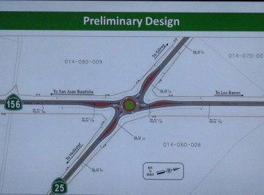 Preliminary design for the roundabout.