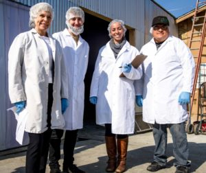 Jayleaf site visit for green business certification. Photo courtesy of Celina Stotler.