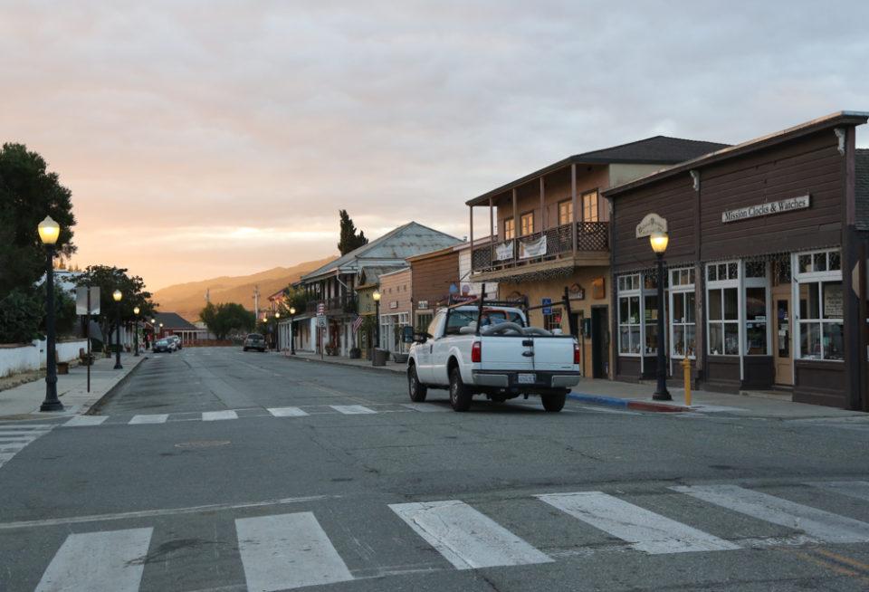 Early morning in San Juan Bautista. Photo by Leslie David.