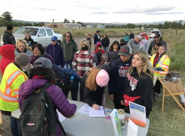 Although over 100 people attended the 2018 Moonlight Walk, they came in waves and were able to check in quickly and hit the trail. Photo by Leslie David.