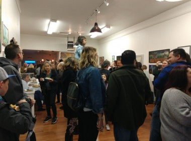 The ARTspace Annex in downtown Hollister was packed during the kickoff party. Photo by Carmel de Bertaut