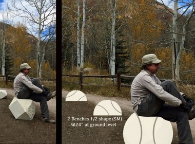Rendering of the Baseball Bench designed by Nancy Lovendahl. Photo provided by San Benito Arts Council.