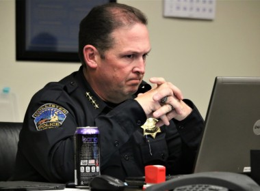 Hollister Police Chief David Westrick said part of the process in obtaining the repeaters was to purchase digital frequencies from the Federal Communications Commission. Photo by John Chadwell.