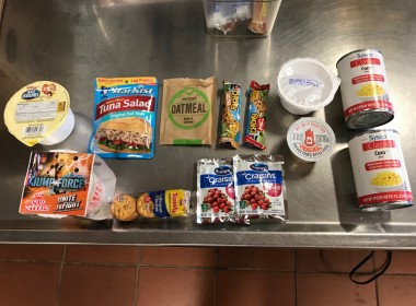 An example of the food items offered through the Backpack Snack program.