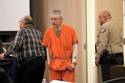 Sang Ji in San Benito County Superior Court during a 2019 hearing. Photo by John Chadwell.