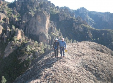 Terry Uebelhart and Robert Walton on the summit of Machete Ridge in 2009. Photo courtesy of Nathan Uebelhart.