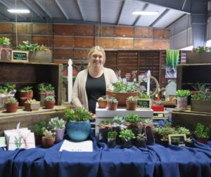 B&R's Riley Rossi helped out at the winter boutique selling potted succulents. Photo by Becky Bonner.