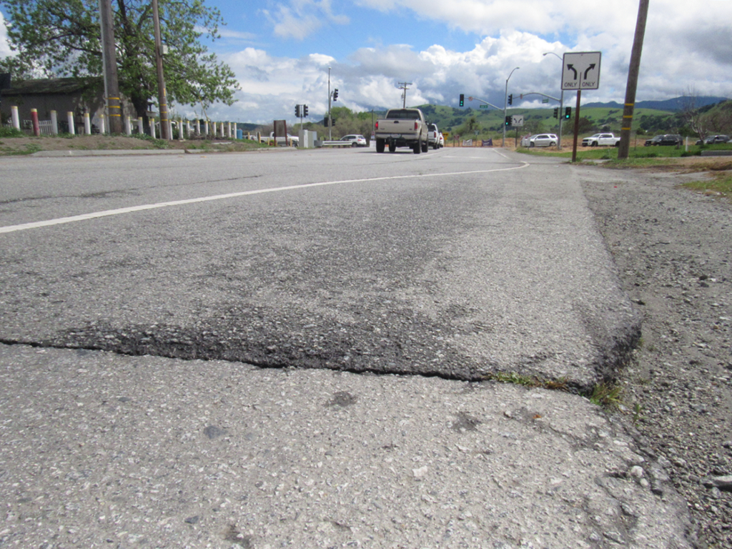 A portion of San Benito Street located between Southside Road and Union Road is part of the list of upcoming road repairs via SB 1 funds. Photo by Noe Magaña.