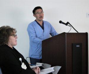 Gastroenterologist Luke Bi said if caught early, Hepatitis C is nearly 100% curable. Photos by John Chadwell.