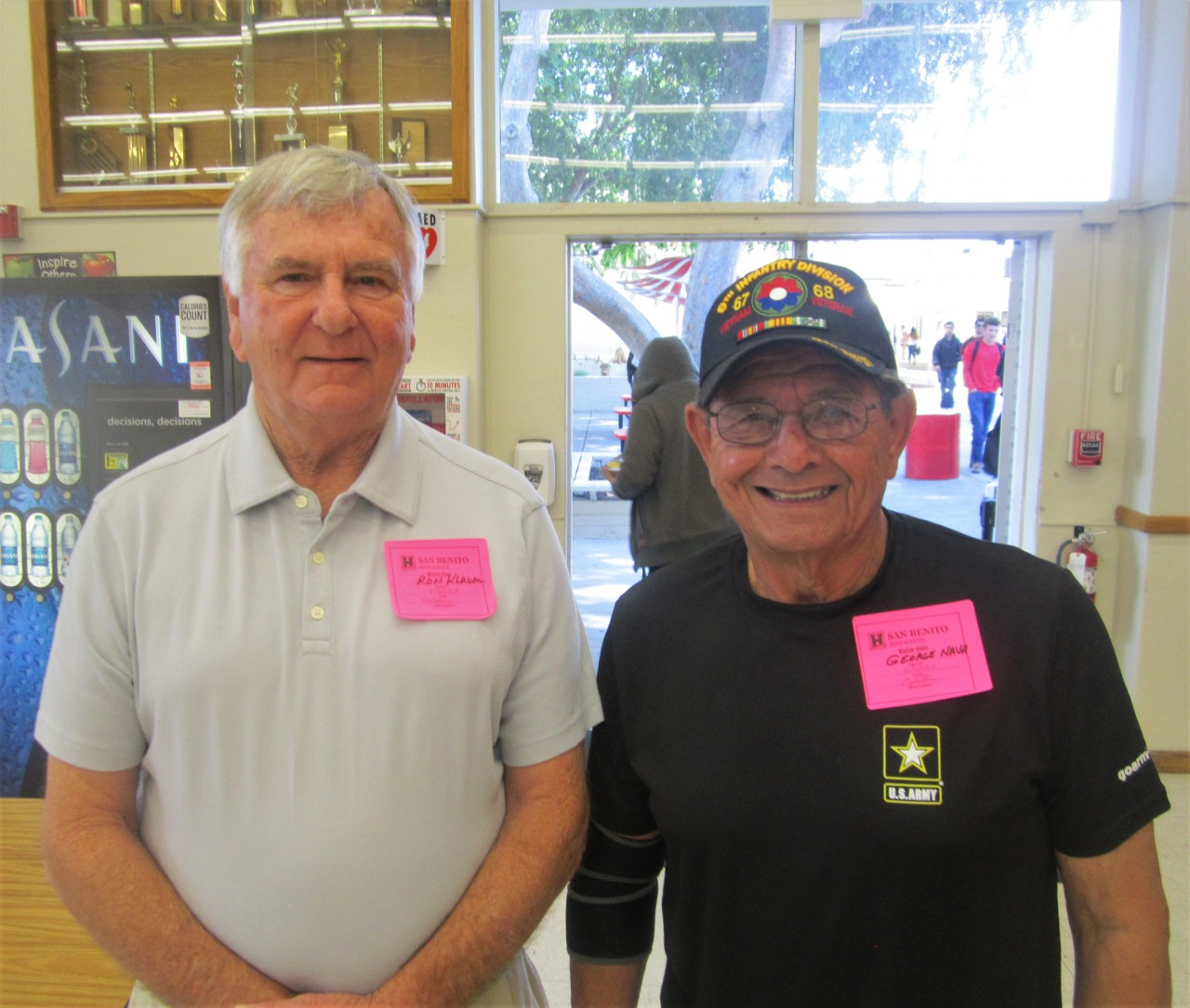 Vietnam veterans Ron Klauer and George Nava also shared their stories. Photo by Becky Bonner.