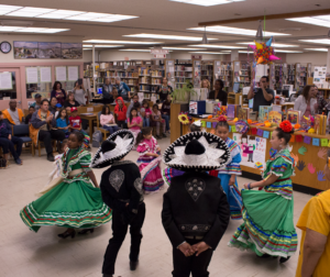 Folklorico Juvenil de Hollister performing on Dia De Los Niños at the San Benito County Free Library on April 30. Photo by Noe Magaña.