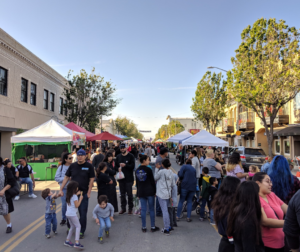 Opening day of the farmers market in downtown Hollister on May 1, 2019. Photo by Becky Bonner.