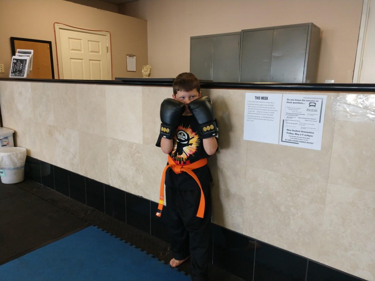 Martial arts student Owen Smith. Photo by Carmel de Bertaut.
