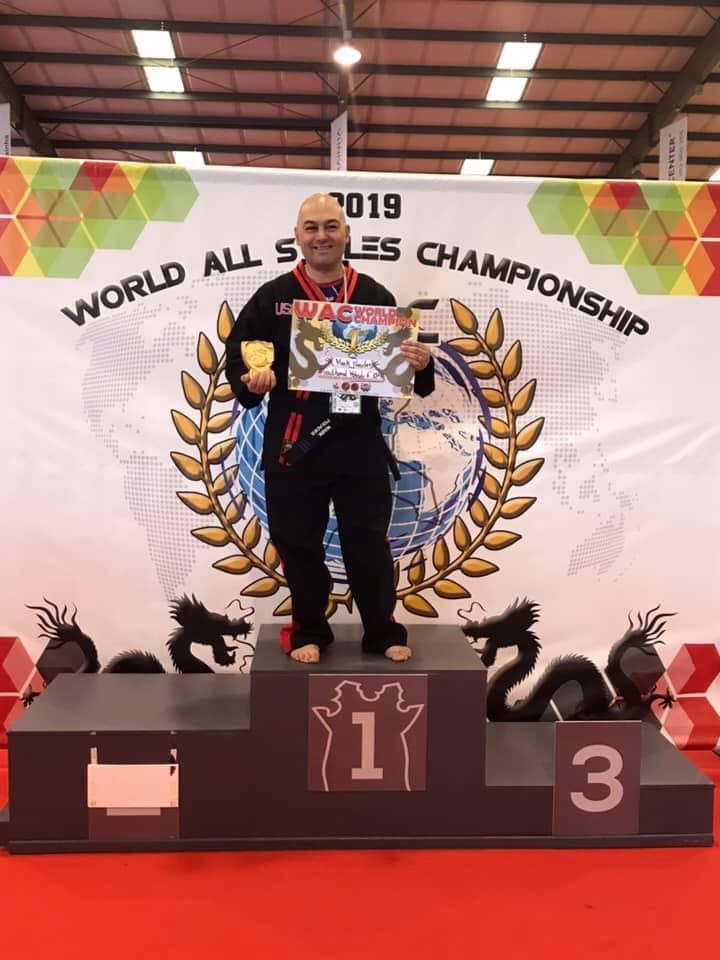 Mark Preader at the World All-Styles Championship Martial Arts Tournament in Portugal. Photo provided by Enterprise Academy of Martial Arts.