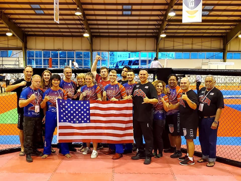 Team USA at the tournament. Preader and 15 other team members brought home a combined total of 16 gold, 12 silver and 13 bronze medals. Photo provided by Enterprise Academy of Martial Arts.