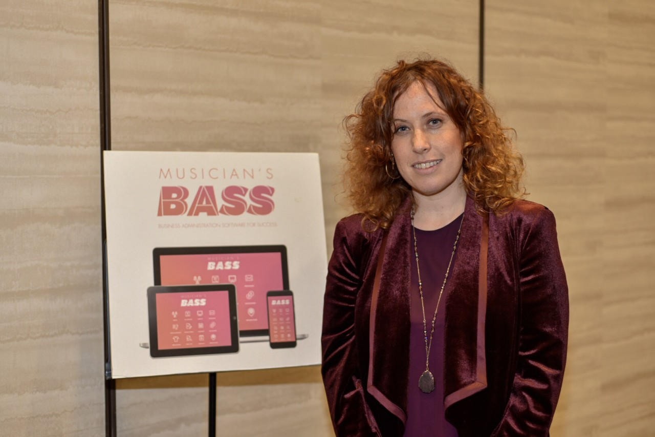 Aliza Hava, founder and CEO of Musician's BASS. Hava won first prize in the Venture division.