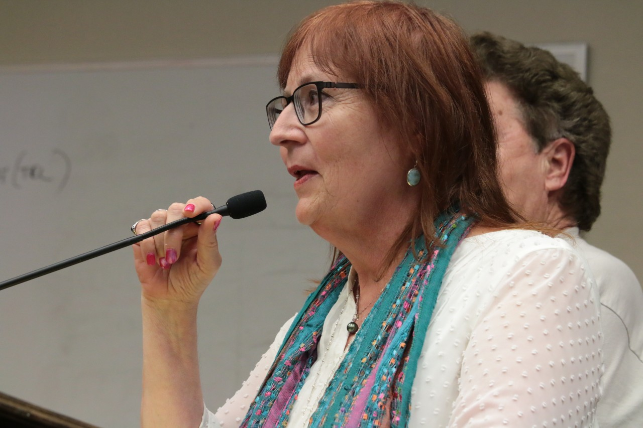 Monterey Bay Alternative Medicine co-owner Lana Blodgett talked to the council about adult-use customer numbers compared to medical customer numbers at her two existing dispensaries.