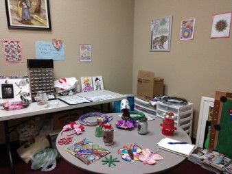 Arts and Crafts are a big part of Esperanza Center's activities.