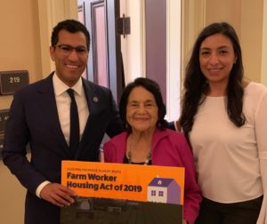 State Assemblyman Robert Rivas, Dolores Huerta, and legislative aide Rita Durgin. Photos provided by the Office of Assemblyman Robert Rivas.