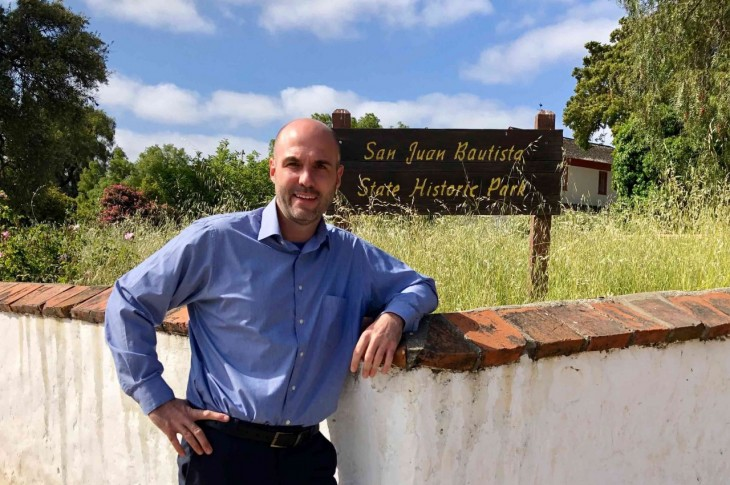 Kollin Kosmicki in San Juan Bautista. Photo provided.