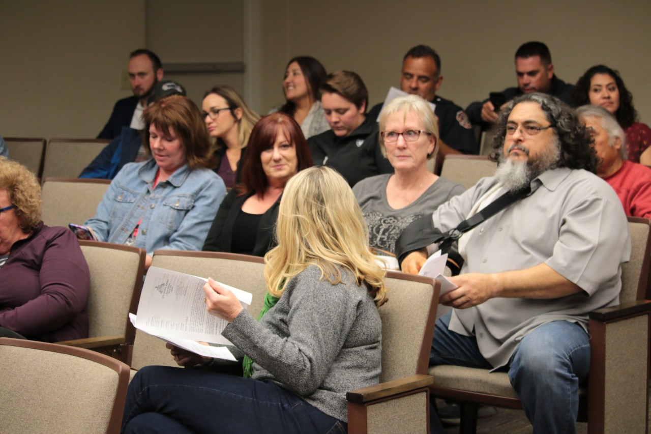 A large portion of the audience was made up of people who came for the 400 block appeal and left as soon as it was rescheduled.