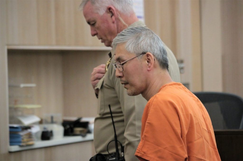 Sang Ji appeared in San Benito County Superior Court on May 24. He is accused of killing his wife Yoon Ji. Photos by John Chadwell.