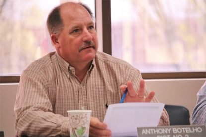 Supervisor Anthony Botelho at a board retreat. File photo by John Chadwell.