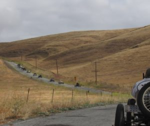Speedsters driving on a county road during the 49th annual Endurance Run and Lowland Tour in 2018. Photo by Noe Magaña.