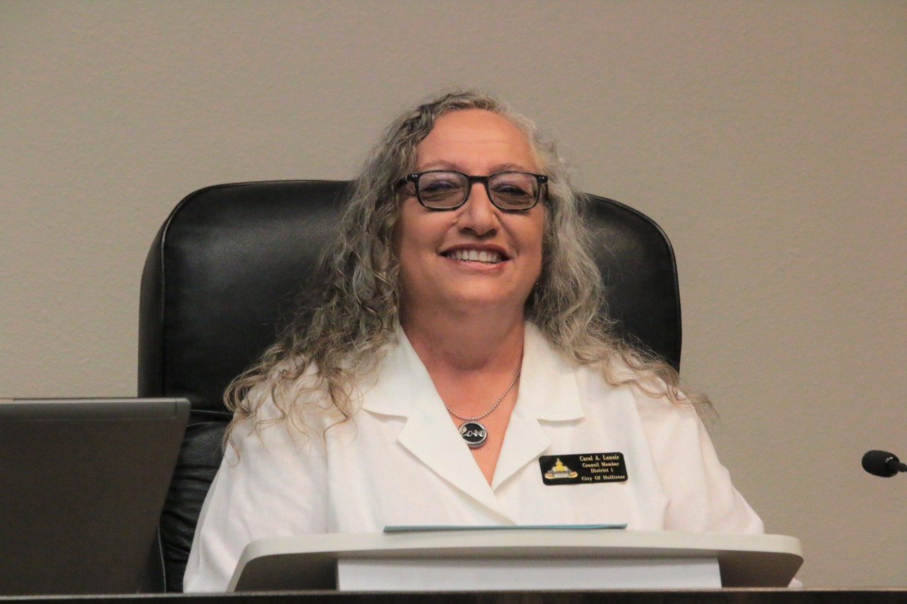 Councilwoman Carol Lenoir said she would not stand for someone smearing her in her hometown. Photo by John Chadwell.