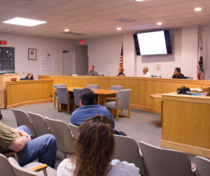 Todd Cushman spoke at the May 15 San Benito County Planning Commission meeting and said Aromas residents don't support developing along Highway 101, citing water and traffic concerns. Photo by Noe Magaña.