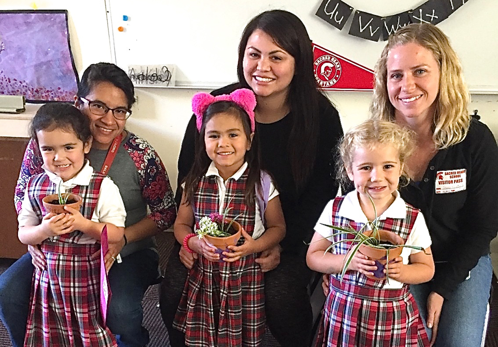 Students at Sacred Heart Parish School in Hollister hosted their parents for Mother's Day Tea. Photos by Kat Nobile
