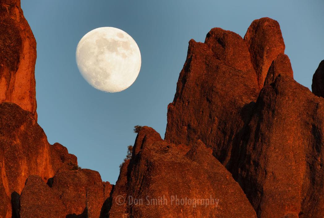 Smith captured the moon rising at Pinnacles.