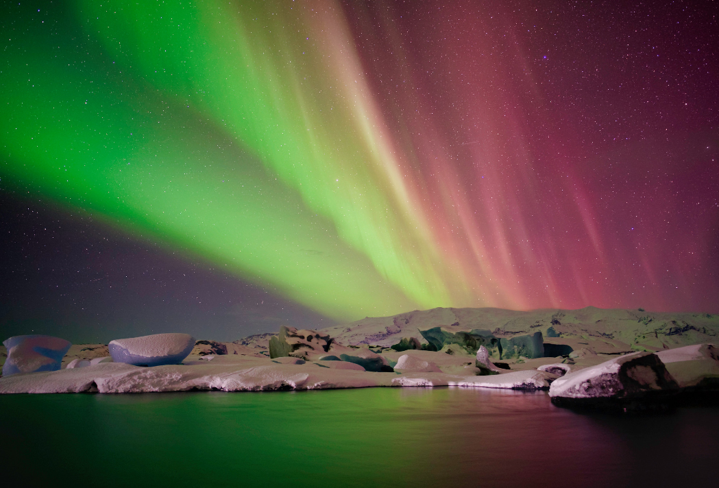 On the Northern Lights in Iceland, Smith stated,