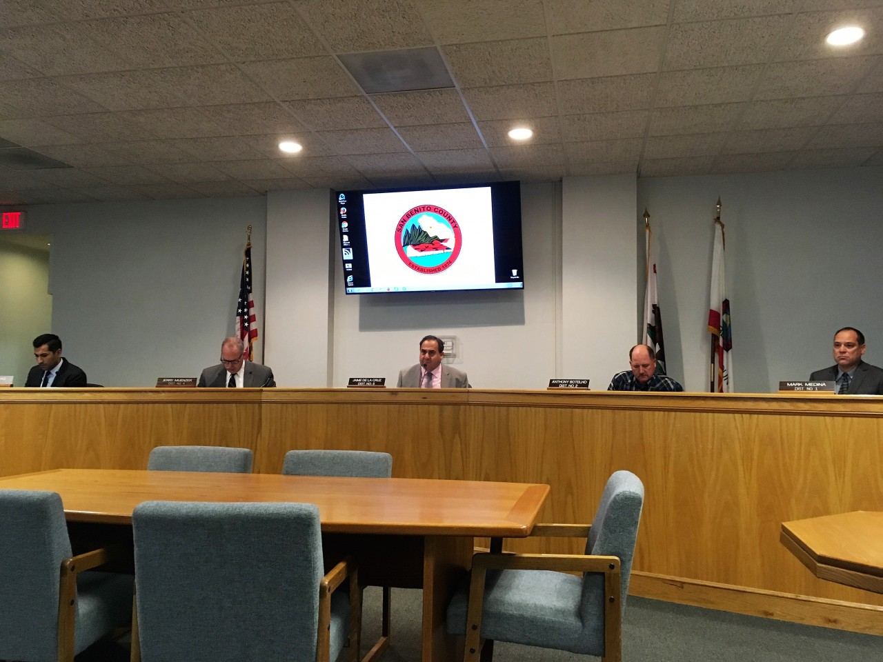 San Benito County Board of Supervisors approved settlement with Hollister School District. Photo by John Chadwell.