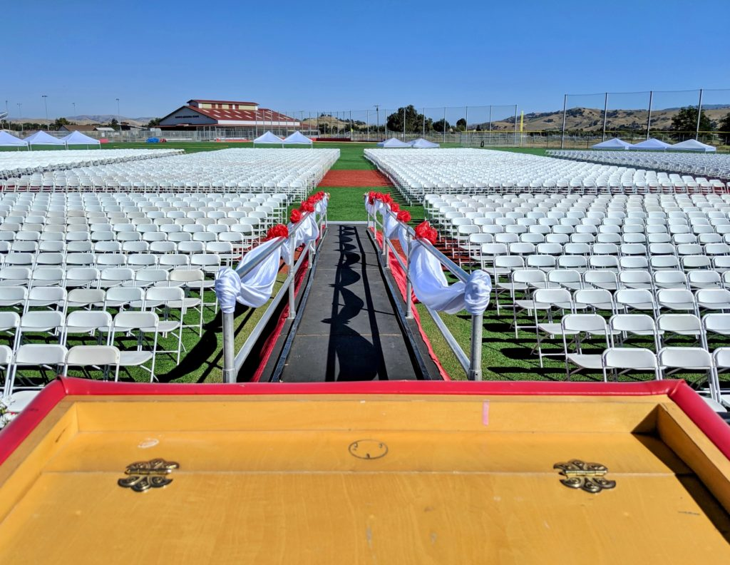 The view from the podium at the 2019 San Benito High School graduation. Photo by Becky Bonner.