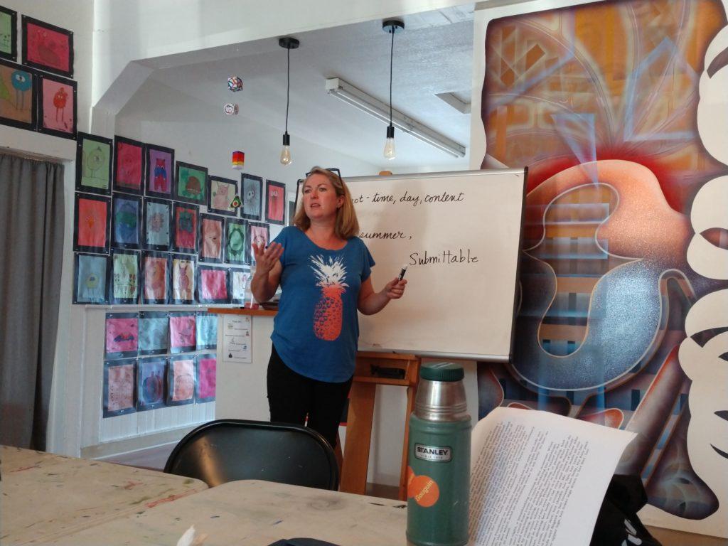 Amanda Chiado leads group discussion. Photos by Carmel de Bertaut.