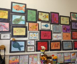 Artwork on display at the Life Skills art reception on May 31. Photos by Carmel de Bertaut.