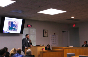 Haertel gives a presentation to the county board on what the water district has been doing in regards to the mussels.