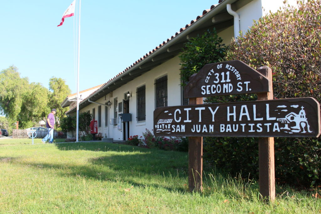 San Juan Bautista City Hall. File photo.