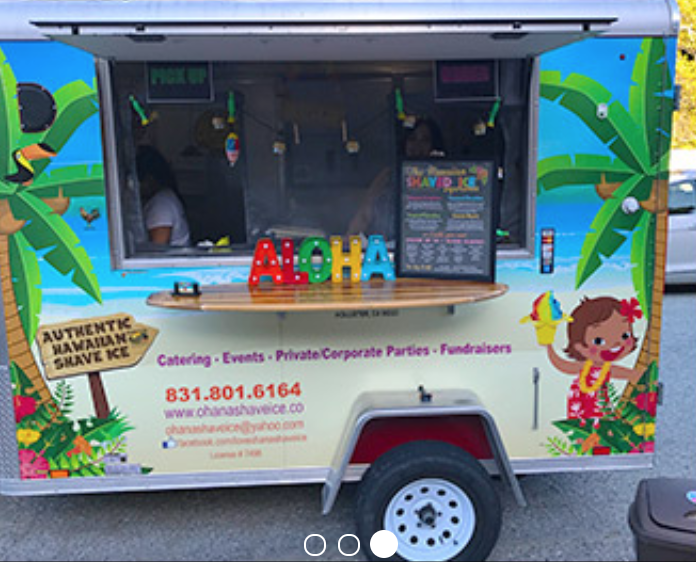 Ohana Shave Ice Food Truck will be on location