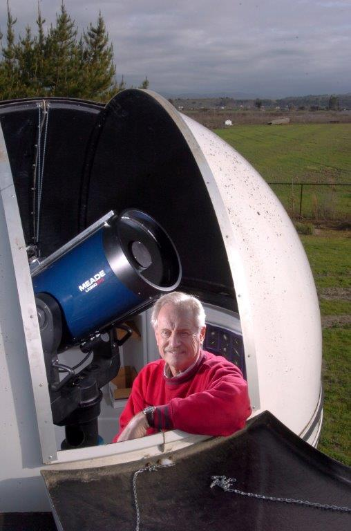 David Baumgartner in an observatory in his old backyard. Photo provided by David Baumgartner.