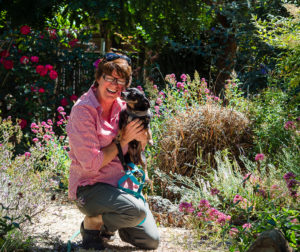 Susan Carpenter of Pet Friends with Bobby the dog. Photo by Heather Graham.