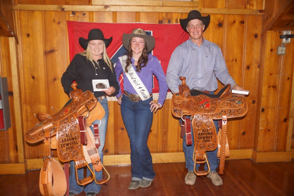 McKenna Wood, CHSRA District 4 Queen Karly Camozzi and Jake Bourdet. Wood and Bourdet, both from Hollister, qualified for the NHSRA finals in Rock Springs, Wyoming. Photo provided.