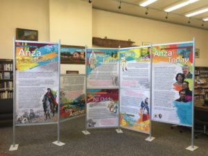 The History of the Anza Expedition traveling exhibit is on display at the Carl M. Luck Memorial Library in San Juan Bautista until Sept. 17. Photo courtesy of the Carl M. Luck Memorial Library.