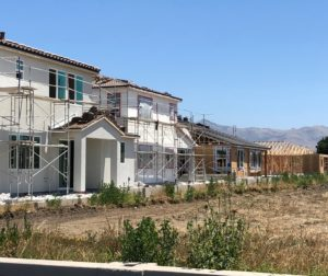 Housing being constructed in Hollister. Photo by John Chadwell.