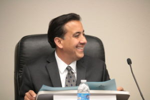 Mayor Ignacio Velazquez has been silent about if he intends to pursue a lawsuit related to development on the 400 block of San Benito Street. Photo by John Chadwell.