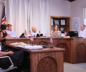The San Juan Bautista Council at its July 16 meeting. Photo by Noe Magaña.